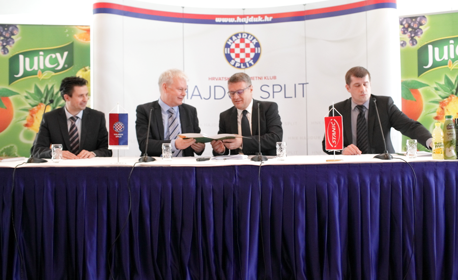 Stanic Beverages and football club Hajduk signed a two-year sponsorship contract